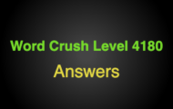 Word Crush Level 4180 It can be multi-colored  Answers