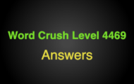 Word Crush Level 4469 In the desert  Answers