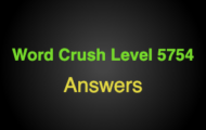 """Word Crush Level 5754 Synonyms for """"blue""""  Answers"""