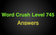 Word Crush Level 745 Countries Of Europe  Answers
