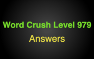 Word Crush Level 979 Can'T Be Held In Your Hands  Answers
