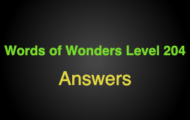 Words of Wonders Level 204 Answers
