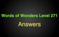 Words of Wonders Level 271 Answers