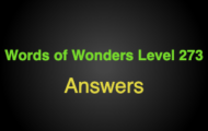 Words of Wonders Level 273 Answers