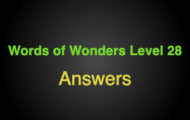 Words of Wonders Level 28 Answers