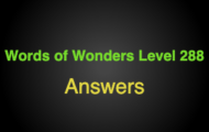 Words of Wonders Level 288 Answers