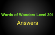 Words of Wonders Level 391 Answers