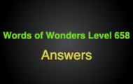 Words of Wonders Level 658 Answers Grand canal