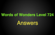 Words of Wonders Level 724 Answers Great wall of china