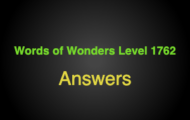 Words of Wonders Level 1762 Answers Carmo convent