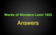 Words of Wonders Level 1933 Answers Temple of olympian zeus