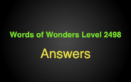 Words of Wonders Level 2498 Answers Windsor castle