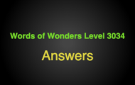 Words of Wonders Level 3034 Answers Charyn national park
