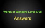 Words of Wonders Level 3798 Answers Vinales valley