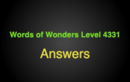 Words of Wonders Level 4331 Answers Chan chan