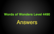 Words of Wonders Level 4490 Answers Bahrain world trade center