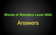Words of Wonders Level 4502 Answers Tree of life