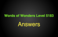 Words of Wonders Level 5183 Answers Chocolate hills