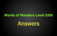 Words of Wonders Level 5205 Answers Bantay bell tower