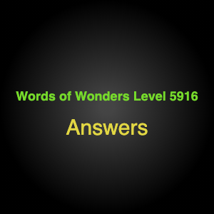 Words of Wonders Level 5916 Answers Avenue of the baobabs
